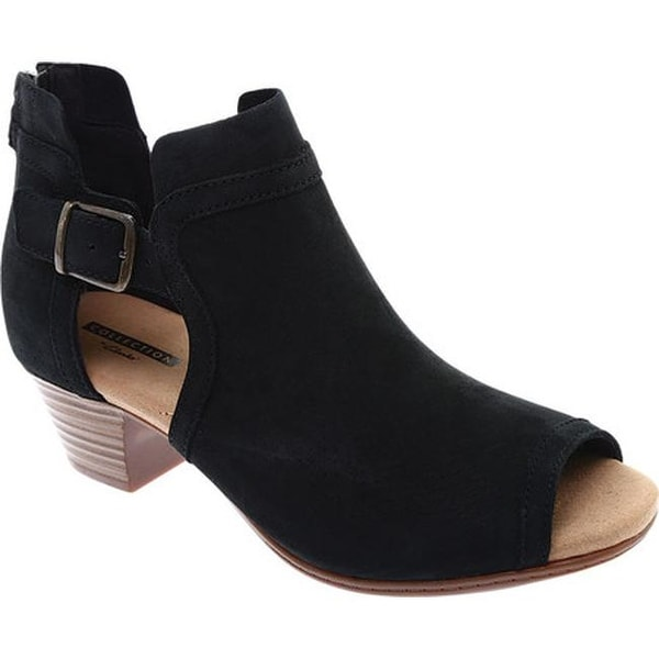 538f629e73a6 Shop Clarks Women s Valarie Kimble Open Toe Bootie Black Nubuck - On ...