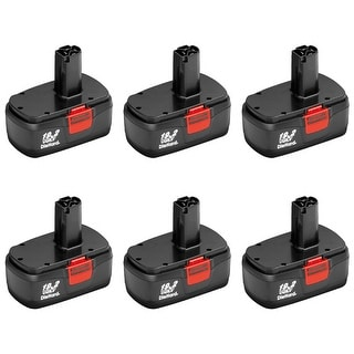 6 Pack Replacement for Craftsman 11375 DieHard C3 130279005 2000mAh Power Tool Battery