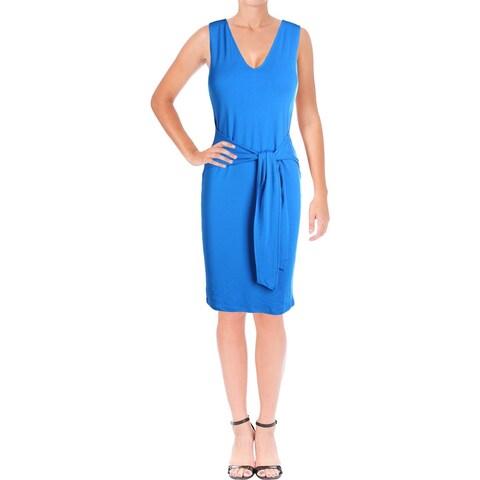 Lauren Ralph Lauren Womens Casual Dress Sleeveless V-Neck