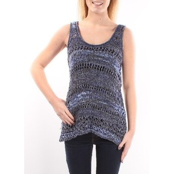 INC Womens Blue Sleeveless Scoop Neck Top Size: S