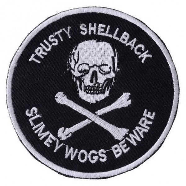 TRUSTY SHELL BACK Embroidered Iron On Motorcycle Biker Vest Patch P110