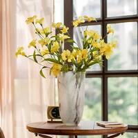 "RusticReach Silk Tung Flower Stem in Yellow 31"" Tall"
