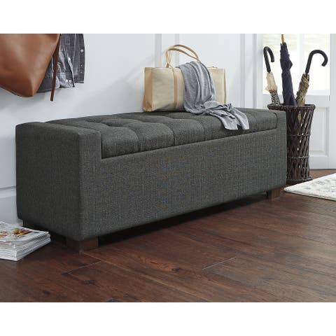 """Cortwell Casual Gray Storage Bench - 54""""W x 18""""D x 18""""H"""