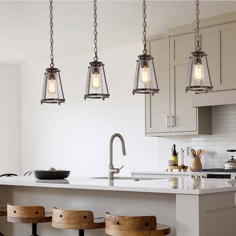 Modern Glass Mini Island Pendant Lighting Fixture for Kitchen Dining Living Room
