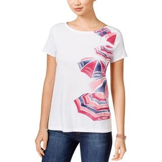 Tommy Hilfiger Womens T-Shirt Heathered Graphic
