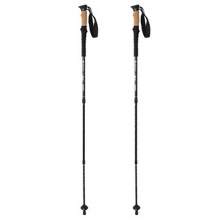 2PCS Adjustable Anti Shock Hiking Walking Sticks Poles Trekking Telescoping Trail 7075Aluminum