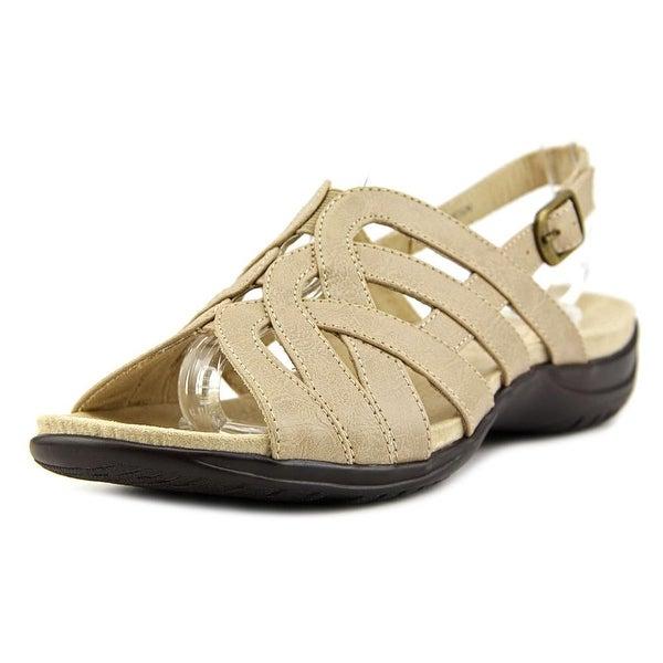 Easy Street Visage Women Open-Toe Leather Nude Slingback Sandal