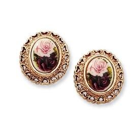 Silver and Copper White Crystal Teardrop Dangle Earrings