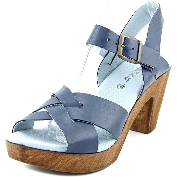 Eric Michael Philly Women  Open Toe Leather Blue Sandals
