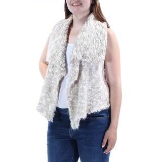 KENSIE $99 Womens New 1154 Beige Open Cardigan Sleeveless Trapeze Sweater L B+B