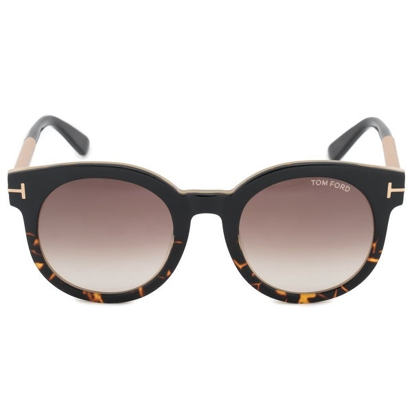 9fd97558d6873 Shop Tom Ford Janina Round Sunglasses FT0435 01K 51 - Free Shipping ...