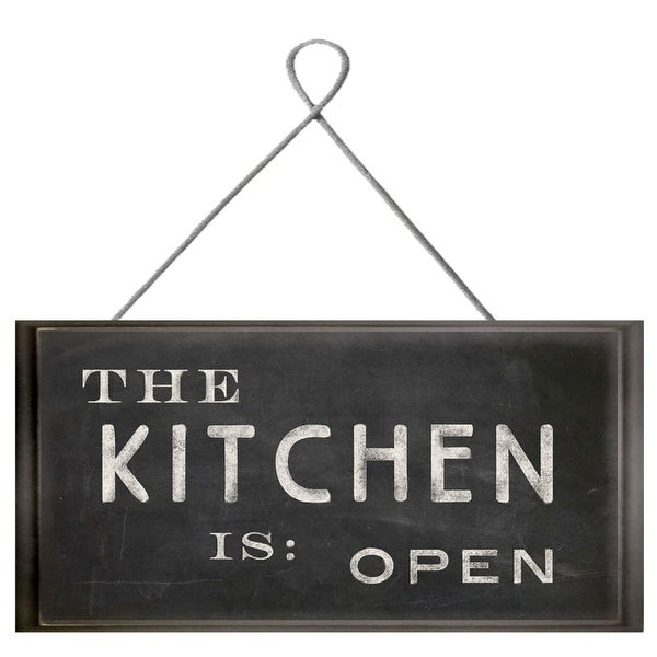 PTM Images 207246 The Kitchen is Open Sign - Black - N/A