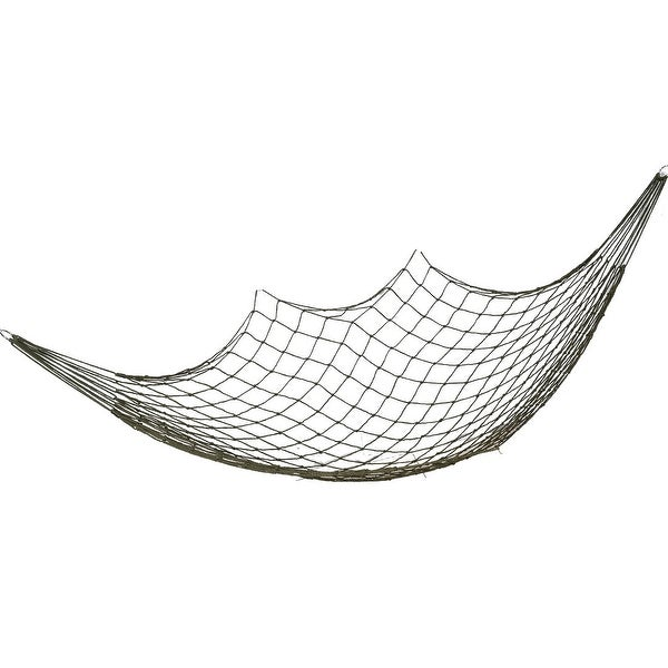 120Kg Load Capacity Courtyard Tree Hang Hammock Mesh Net Sleeping Bed Army Green