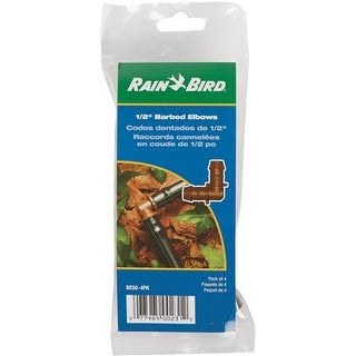 "Rain Bird Corp. Consumer 4-Pk 1/2"" Barbed Elbow BE50/4PKS Unit: PKG"