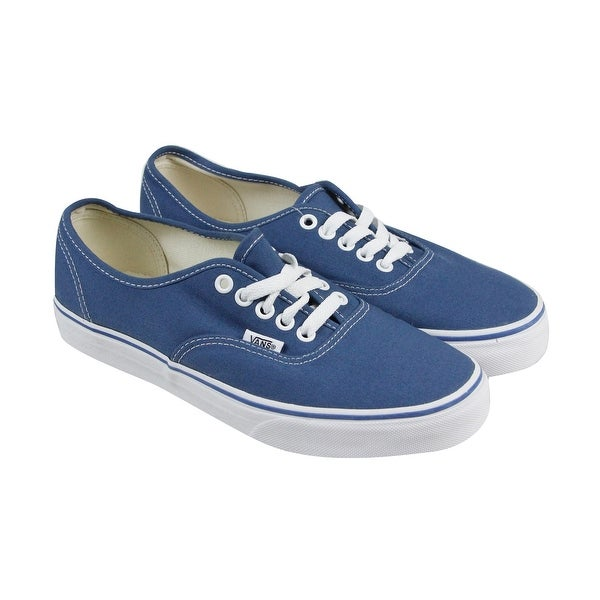 4bf4a81dbf Shop Vans Authentic Mens Blue Canvas Lace Up Lace Up Sneakers Shoes ...