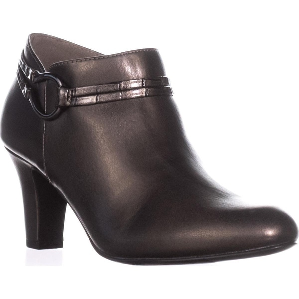 Easy Street Jem Dress Ankle Booties, Pewter