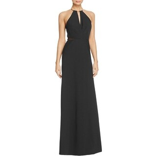 JS Collections Womens Evening Dress O-Ring Pleated