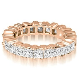 8.00 cttw. 14K Rose Gold Princess Prong Diamond Eternity Ring