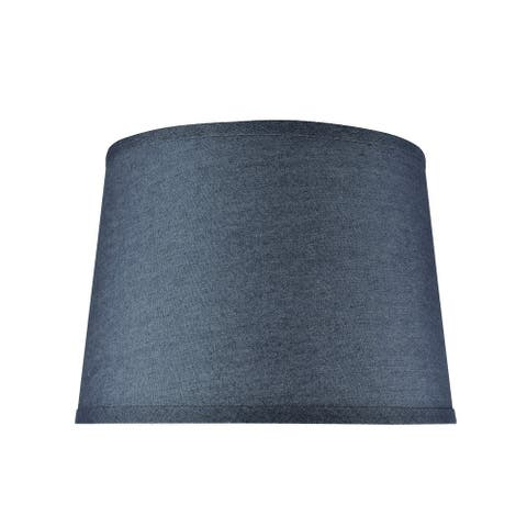 "Aspen Creative Hardback Empire Shaped Spider Construction Lamp Shade in Washing Blue (12"" x 14"" x 10"")"