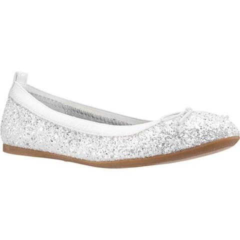 Nina Girls' Esther Slip-On White Chunky Glitter Synthetic
