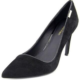 Calvin Klein Calida Women Pointed Toe Suede Black Heels