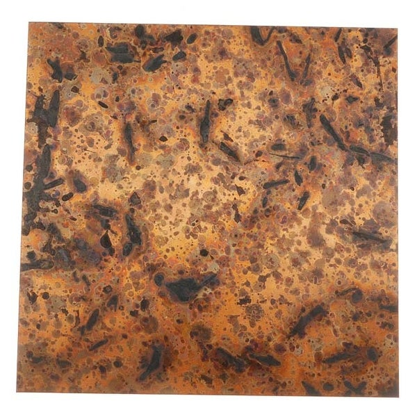 Lillypilly Copper Sheet Metal Square Light Distressed Patina 24 Gauge - 3x3 In.