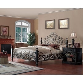 Sorrento Eastern King Size Metal Poster Bed.