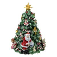 "6.25"" Musical Rotating Christmas Tree Music Box - green"