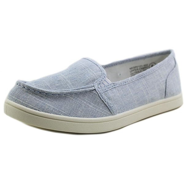 Not Rated Machkerel Women Round Toe Canvas Blue Loafer