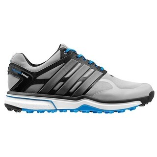 Adidas Men\u0027s Adipower Sport Boost Light Onix/Dark Silver/Blue Golf  ShoesQ46927