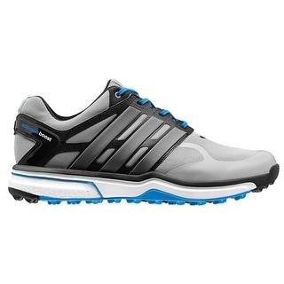 Adidas Men\u0027s Adipower Sport Boost Light Onix/Dark Silver/Blue Golf  ShoesQ46927