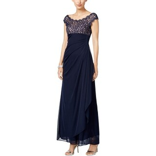 Xscape Womens Evening Dress Lace Ruched