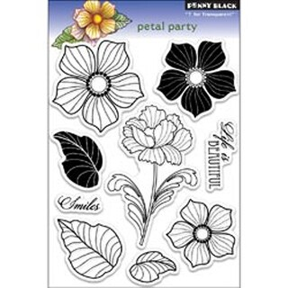 """Petal Party - Penny Black Clear Stamps 5""""X7.5"""" Sheet"""