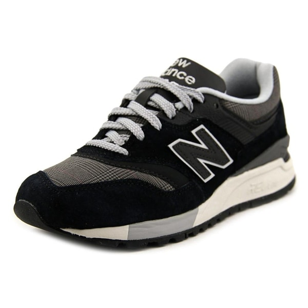 New Balance WL997 Women Round Toe Synthetic Black Sneakers