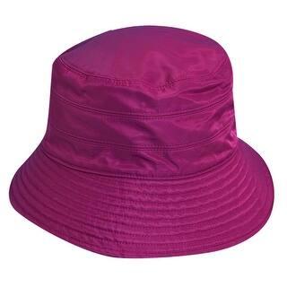5e9ec8201b3 Scala Classico Women s Nylon Water Repellent 3 Inch Brim Lined Rain Hat