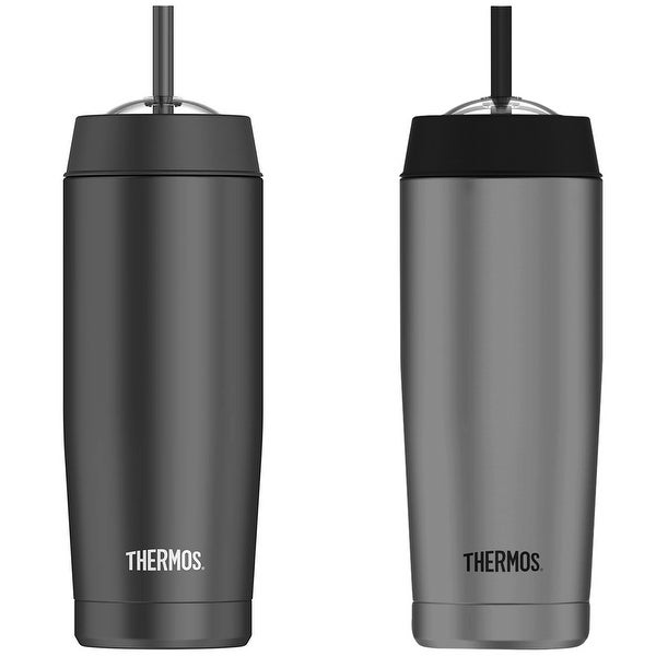 Thermos 16 oz. Vacuum Insulated Stainless Steel Cold Cup with Straw - 16 oz.