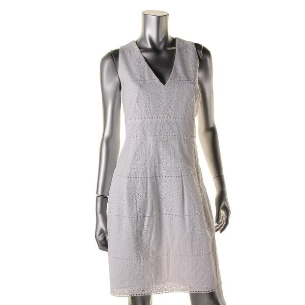 MICHAEL Michael Kors Womens Casual Dress Sleeveless Eyelet