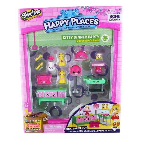 Shopkins Happy Places S1 Decorator Pack: Kitty Dinner Party