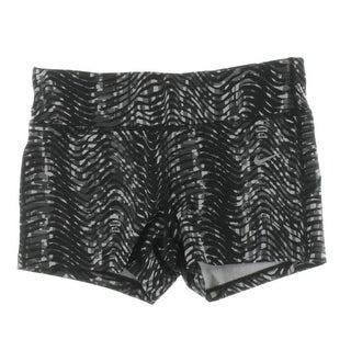 Nike Womens Athletic Shorts Dri-Fit Printed