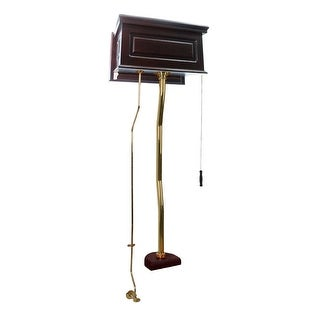 Dark Oak High Tank Pull Chain Toilet Conversion Kit Brass | Renovator's Supply