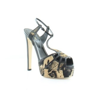 Sergio Rossi Crystal Puzzle Women's Heels Brown/Black