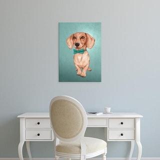Easy Art Prints Barruf's 'The Wiener Dog' Premium Canvas Art