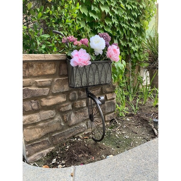 Farmhouse Vintage Wall Metal Bicycle Pot Planter. Opens flyout.