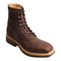 Twisted X Boots Men's MLCAL01 Lightweight Alloy Toe Work Boot Brown Leather