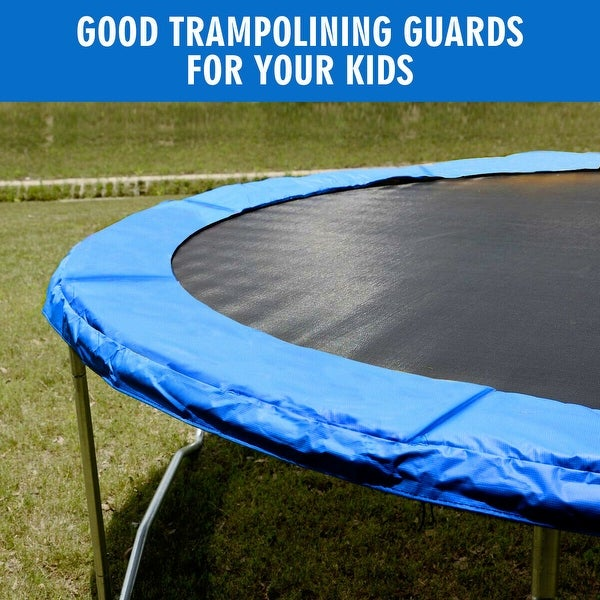 Shop Gymax Blue 14 FT Round Frame Trampoline Safety Pad