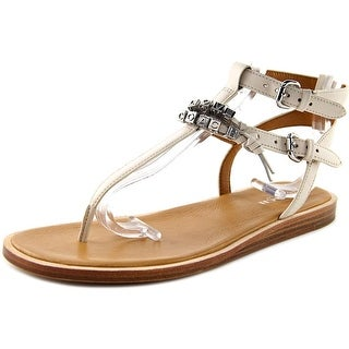 Coach Becky Women Open Toe Leather White Thong Sandal