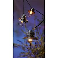 Living Accents C7 Fisher Lantern Light Set - 10 Count  Clear