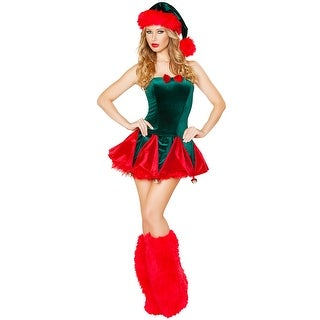 Naughty Elf Costume, Green And Red Elf Costume