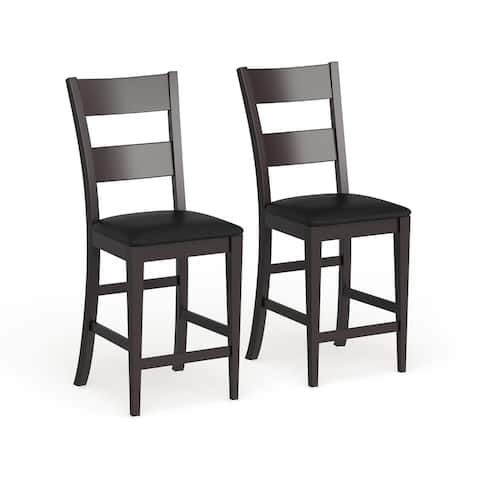 Copper Grove Homer Espresso Wood 24-inch Bar Chairs (Set of 2)
