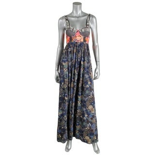Maaji Womens Printed Sleeveless Maxi Dress - S